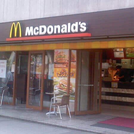 マクドナルド 店内